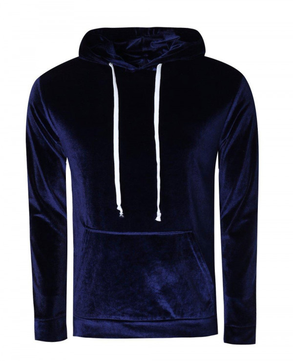 High-Quality-Men-Velour-Hoodie-in-Muscle-Fit
