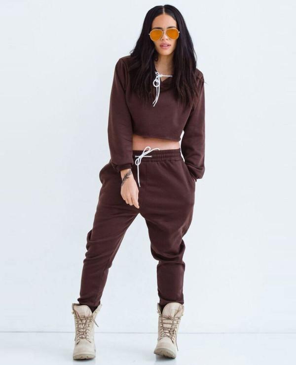 Hot-&-Sexy-Women-Most-Selling-Sweatsuit-in-Dark-Brown