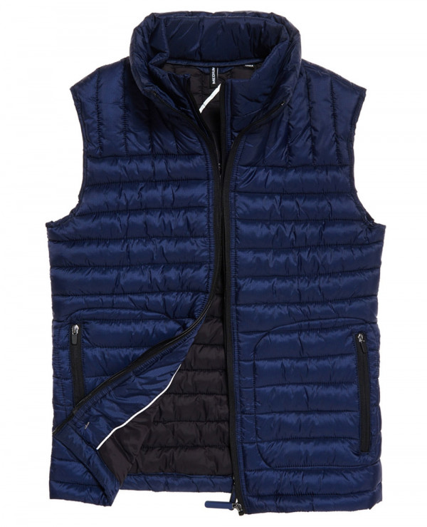 Hot-Selling-Men-Custom-Padded-Puffer-Double-Zipper-Vest-Gilt