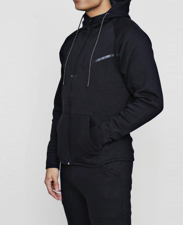 Hot-Selling-Black-Men-Skinny-Fit-Sport-Hooded-Tracksuit