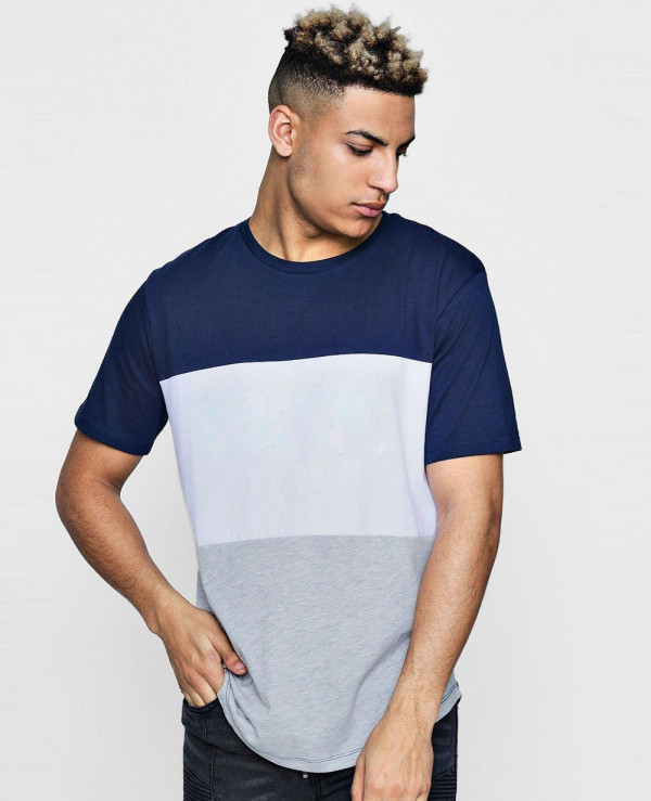 Hot-Selling-Men-Fashion-Sport-Colour-Block-With-Curved-Hem-T-Shirt