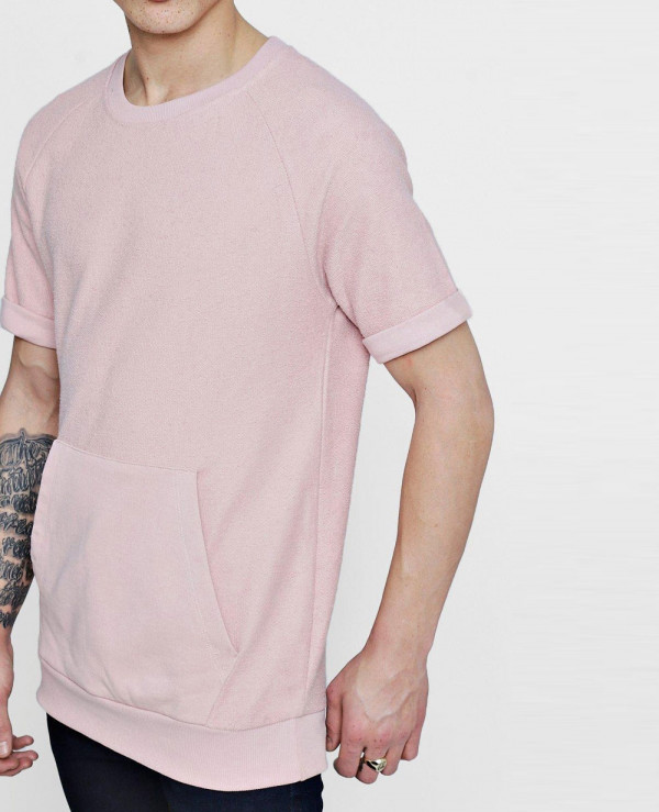 Hot-Selling-Men-Raglan-Sleeve-Textured-Sweater-With-Kangaroo-Pocket-T-Shirt