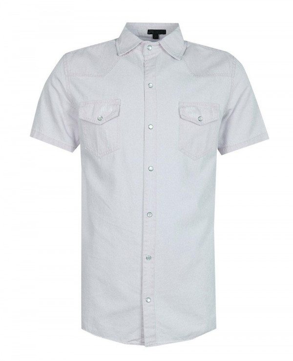 Hot-Selling-Men-Short-Sleeve-Denim-Western-Shirt