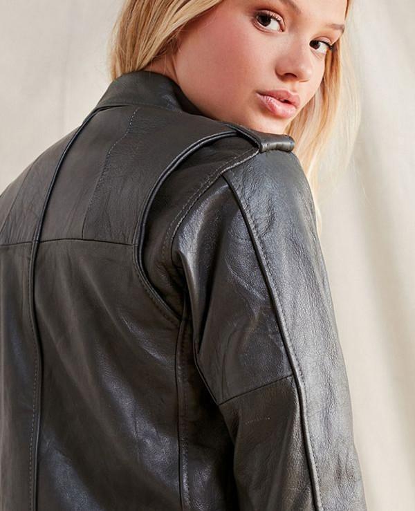 Hot-Selling-Women-Style-Leather-Moto-Biker-Jacket