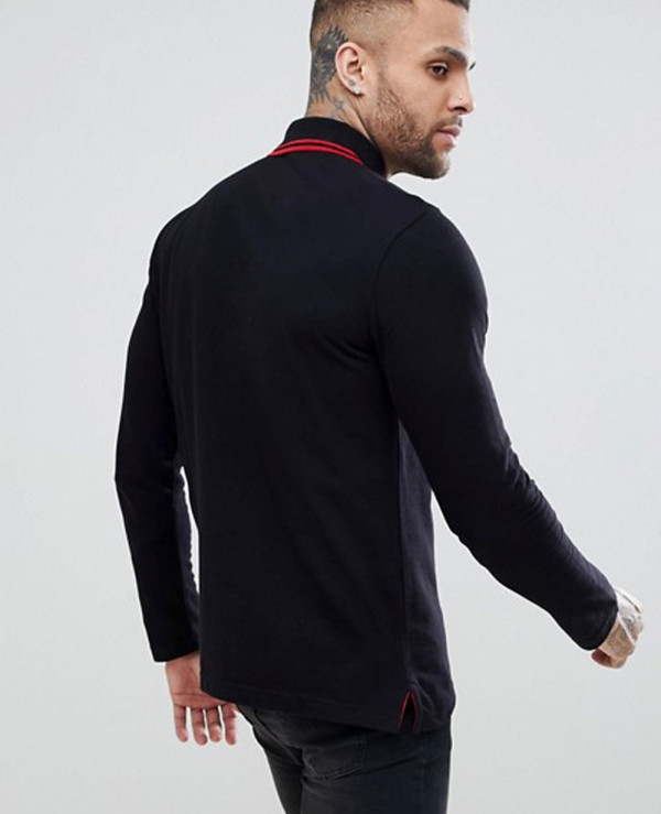 Jeans-Polo-Shirt-In-Black-With-Embroidered