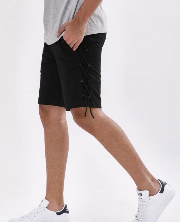 Lace-Down-Side-Seam-Shorts