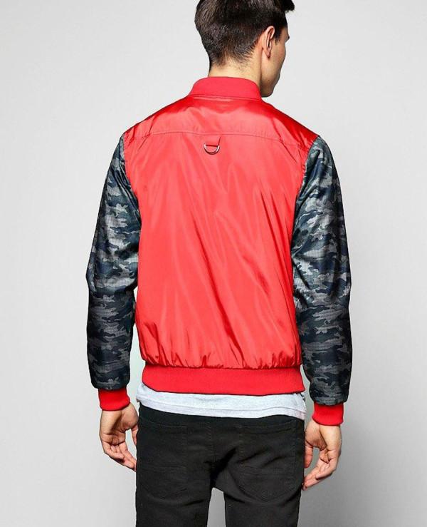 Lined-Nylon-Bomber-Jacket-With-Camo-Sleeves-Varsity-Jacket