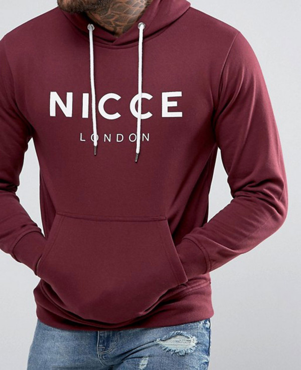 London-Hoodie-In-Red-With-Large-Logo-Exclusive
