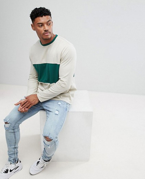 Long-Sleeve-Crew-Neck-With-Colour-Block-Stylish-Sports-T-Shirt