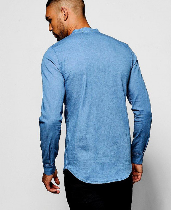 Long-Sleeve-Denim-Chambray-Western-Shirt