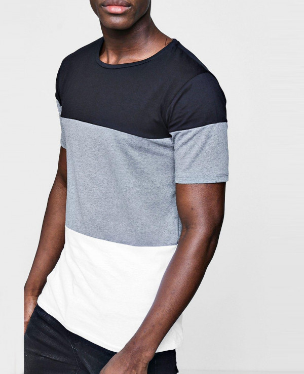 Longline-Colour-Block-T-Shirt