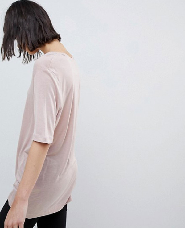 Longline-Fashion-Selected-Soft-Touch-V-Neck-T-Shirt