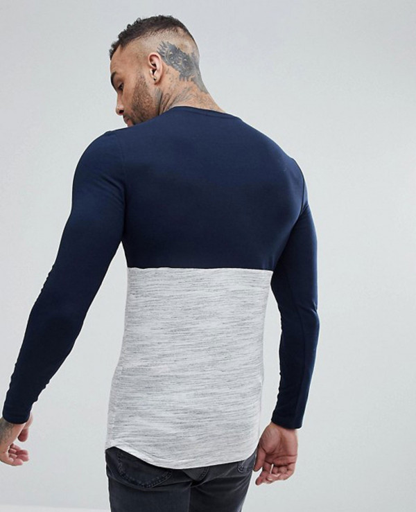 Longline-Muscle-Long-Sleeve-With-Textured-Body-And-Rose-Gold-Zipper-T-Shirt