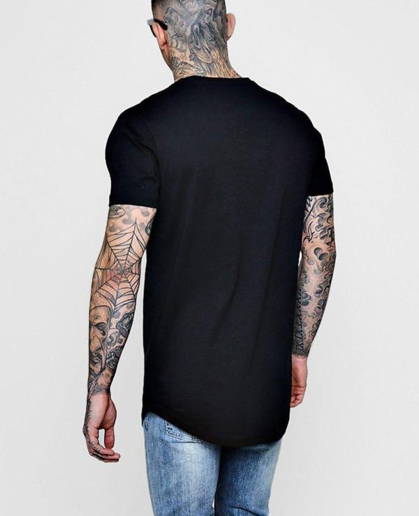 Longline-Print-With-Curve-Hem-T-Shirt