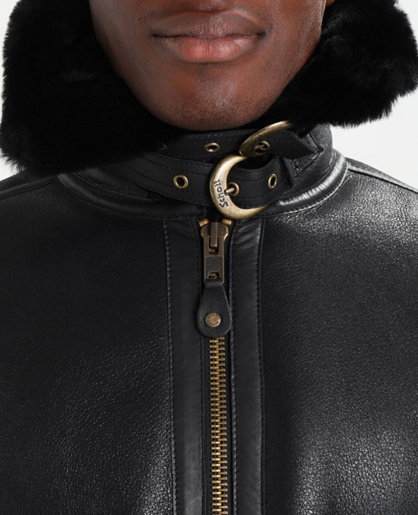 Men-Black-Fur-Sheep-Real-Leather-Jacket