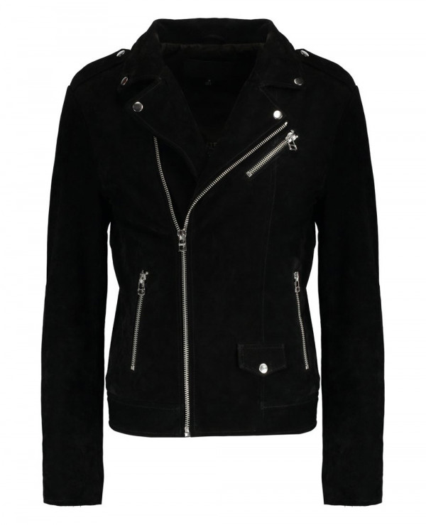 Men-Black-Suede-Biker-Classic-Leather-Jacket