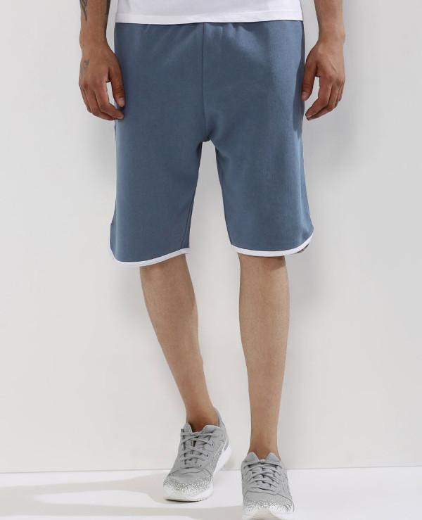 Men-Blue-Custom-Fleece-Baseball-Shorts
