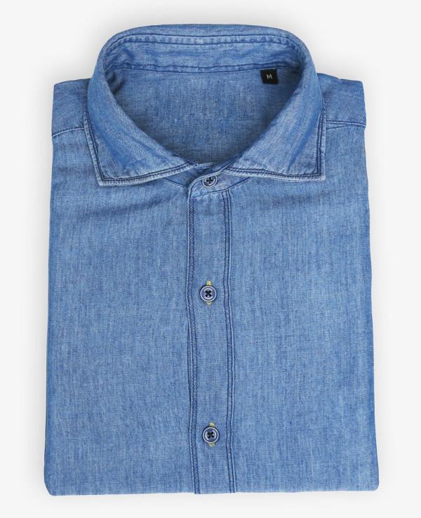 Men-Blue-Denim-Shirts