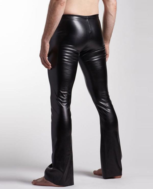 Men-Classic-Black-Leather-Pocket-Motorcycle-Pants