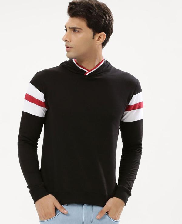 Men-Contrast-Panel-Hooded-Sweatshirt