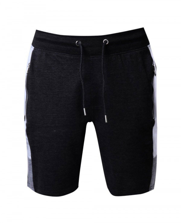 Men-Gym-Skinny-Fit-Shorts-With-Side-Panel