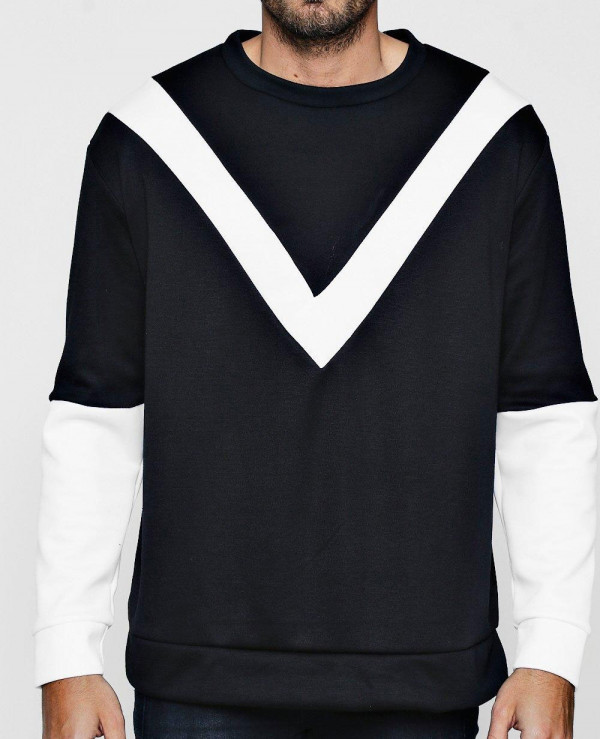 Men-High-Quality-Custom-Loose-Fit-Chevron-Colour-Block-Sweatshirt