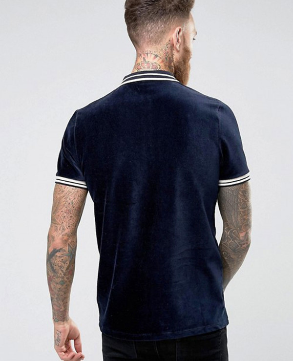 Men-In-Cord-With-Zipper-Neck-And-Tipping-Polo-Shirt