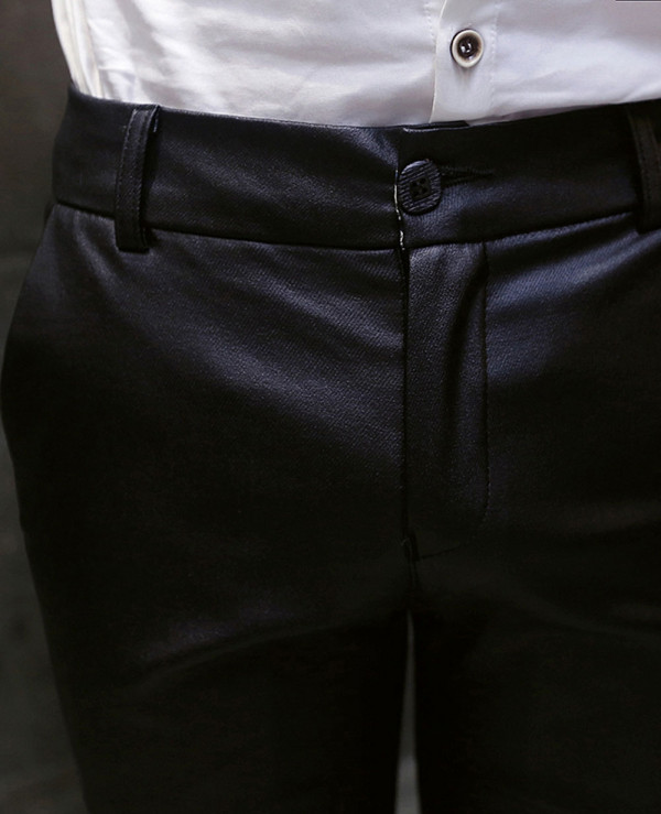 Men-Pencil-Pants-Leisure-Faux-Leather-Trousers-Stylish