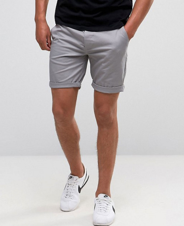 Men-Skinny-Chino-Shorts-In-Forest-Green