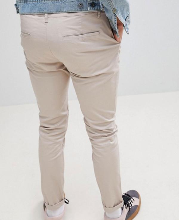 Men-Skinny-Chinos-In-Beige-Trouser