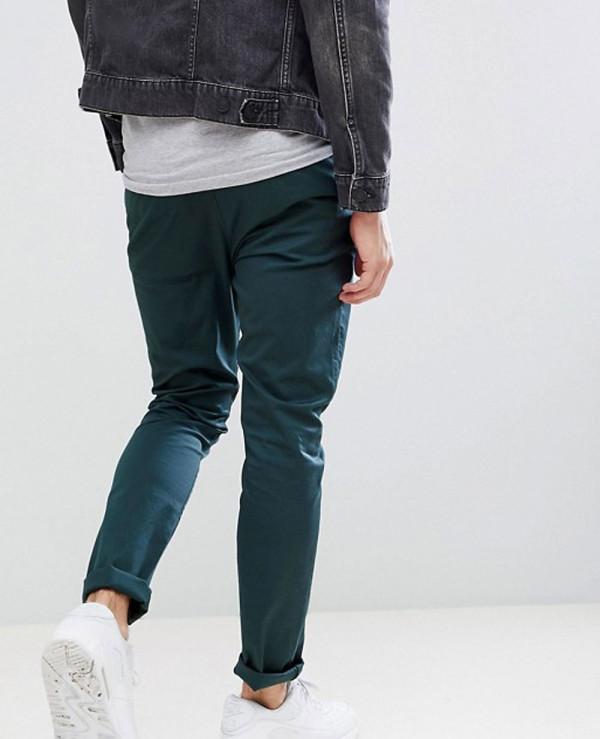 Men-Skinny-Chinos-In-Bottle-Green-Trouser