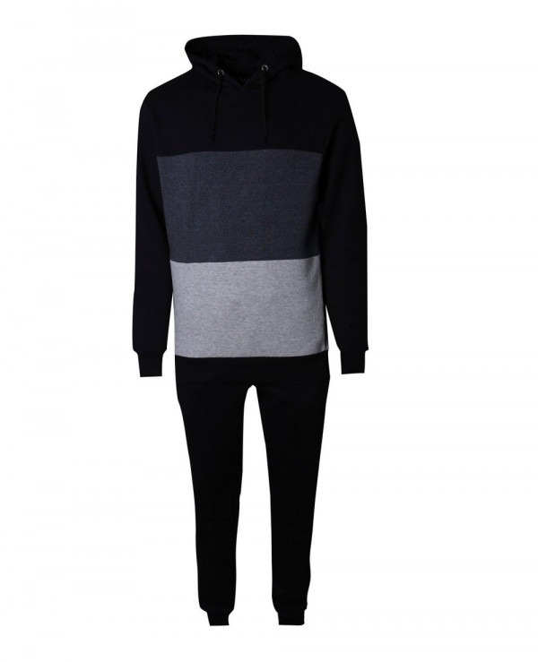 Men-Skinny-Fit-Colour-Block-Hooded-Tracksuit