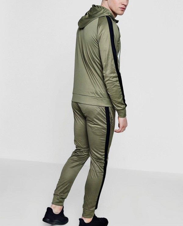 Men-Stylish-Skinny-Contrast-Panel-Hooded-Tracksuit