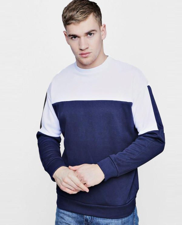 Most-Selling-Fleece-Crew-Neck-Sweat-With-Contrast-Sweatshirt