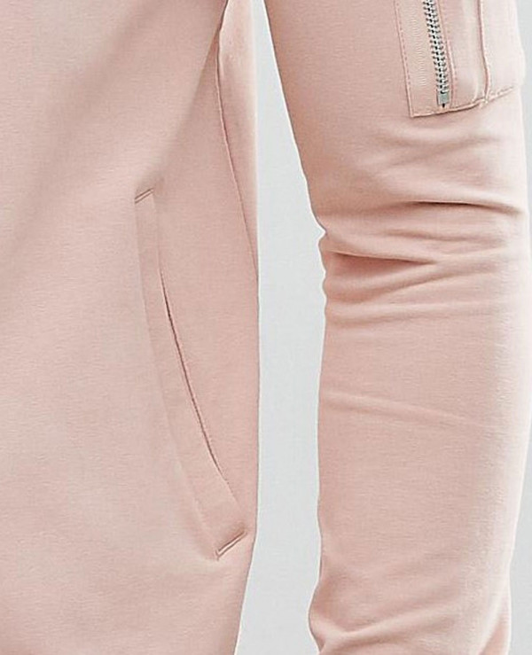 Muscle-Fit-Jersey-Bomber-Jacket-In-Pink-With-Pocket