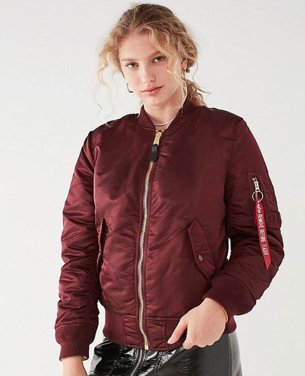 New-Look-Satin-Maroon-Bomber-Varsity-Jacket
