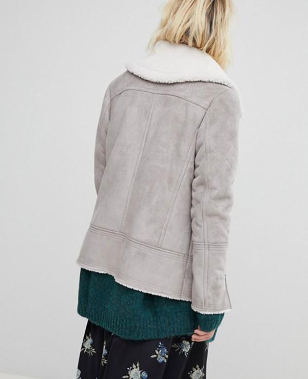 New-Look-Shearling-Fur-Biker-Leather-Jacket