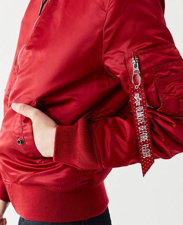 New-Look-Women-Burgundy-Satin-Bomber-Varsity-Jacket