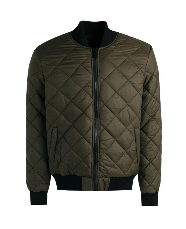 New-Stylish-Custom-Diamond-Quilted-Bomber-Padded-Jacket