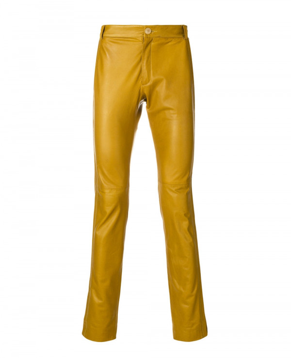 New-Stylish-Custom-Men-Slim-Fit-Leather-Trousers