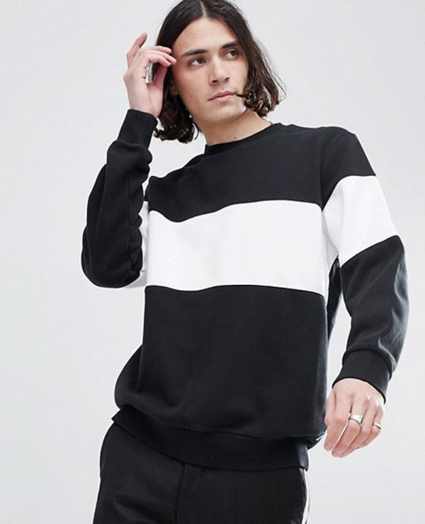 New-Stylish-Fashion-Hot-Crew-Neck-Sweatshirt-In-Black