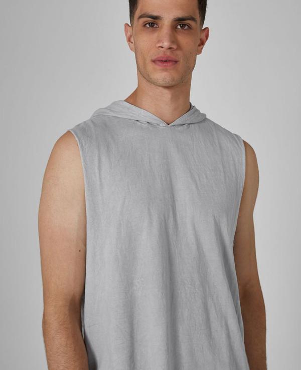 New-Stylish-Grey-Hooded-Tank-Vest