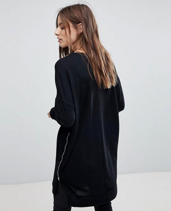 New-Stylish-Longline-With-Zipper-Sweatshirt