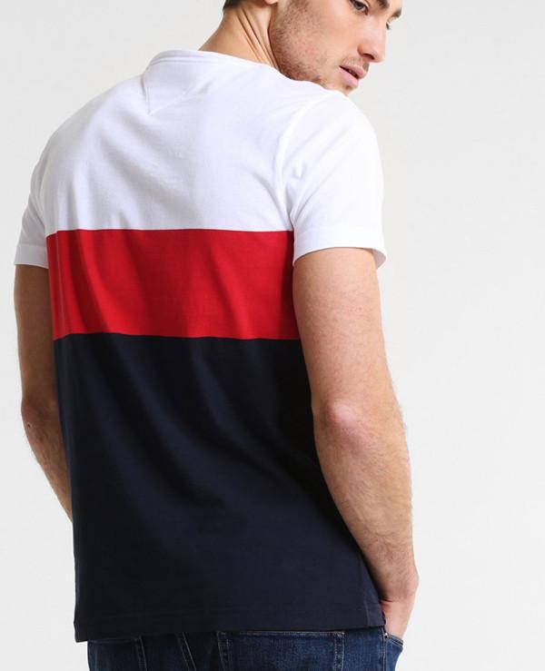New-Stylish-Men-Colour-Block-Custom-T-Shirt