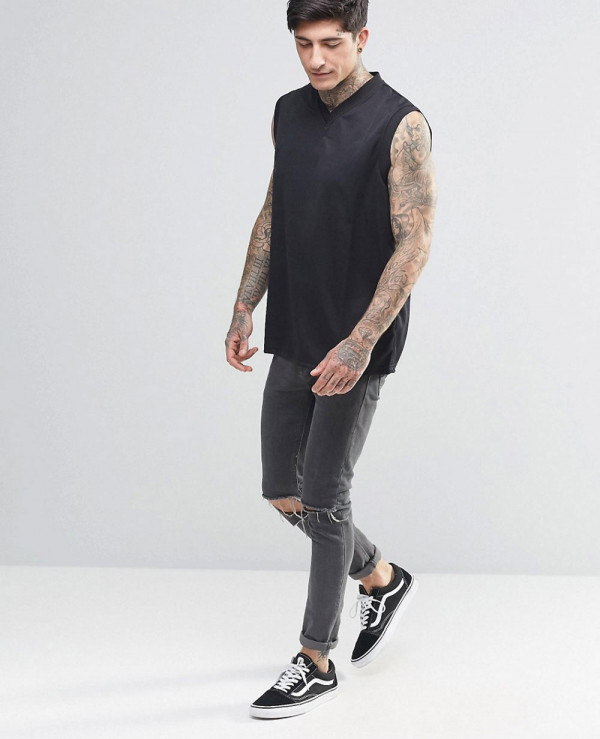 New-Stylish-Men-Custom-Tank-Top-In-Black