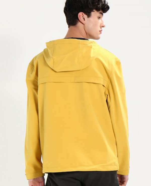 New-Look-Men-Yellow-Windbreaker-Jacket
