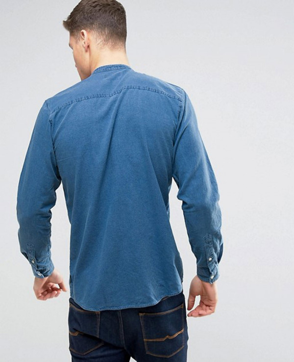 Originals-Shirt-in-Regular-Fit-Denim-With-Grandad-Collar