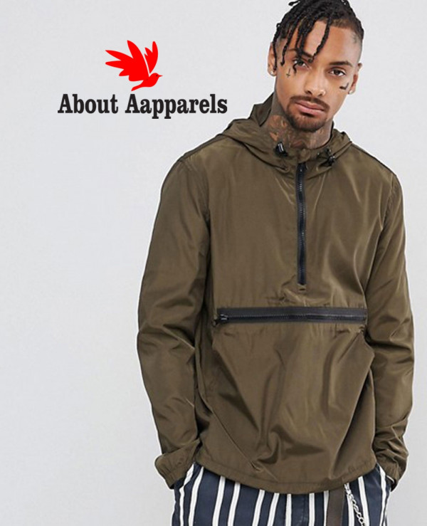 Overhead-Windbreaker-With-Zipper-in-Khaki-Jacket