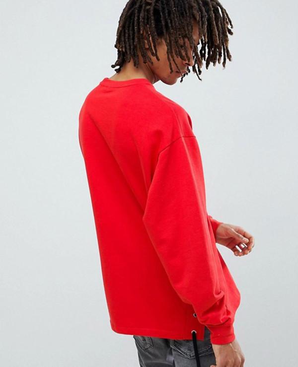 Oversized-Sweatshirt-With-Lace-Up-Side-Split