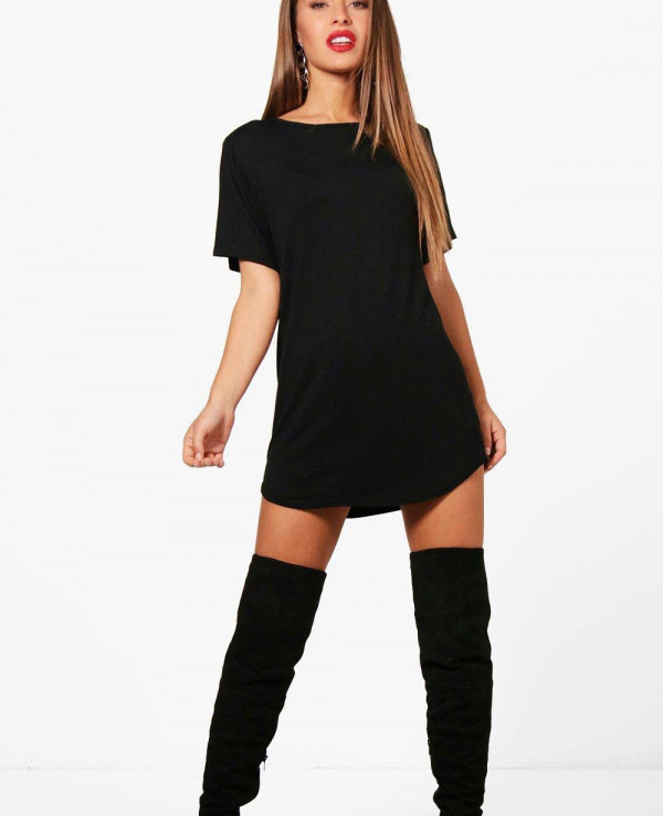 Petite-Amy-Curved-Hem-T-Shirt-Dress